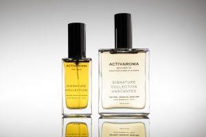 cosmetic image shots argan oil two bottles bodyoil grey background