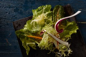fast food photography ingredients different salads