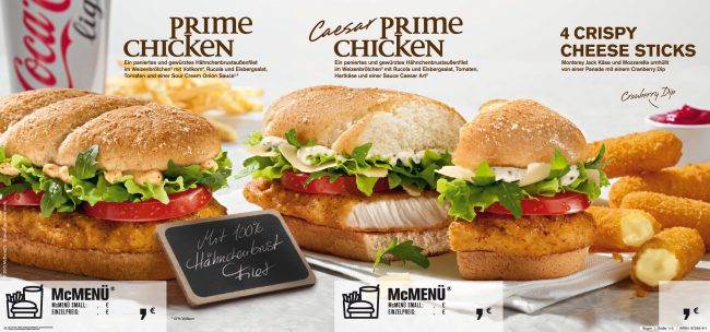 Prime Chicken Fast Food advertising white bright Setdesign