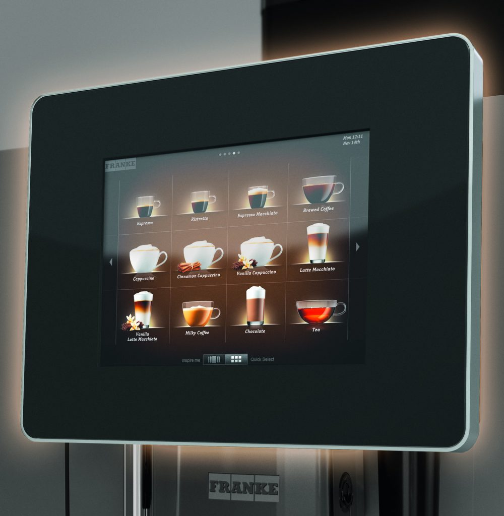 display of the usage Coffee Machines E