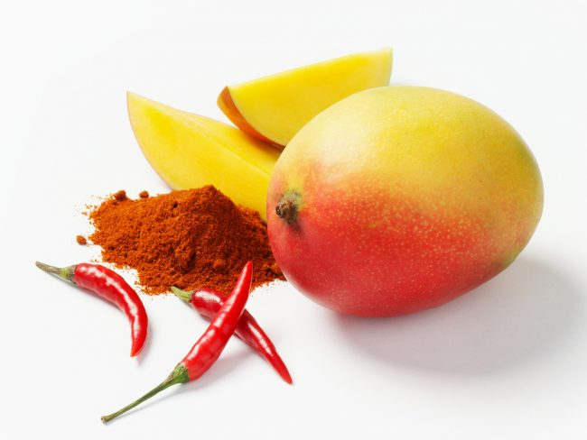 group of ingredients mango chilli spices for packaging image