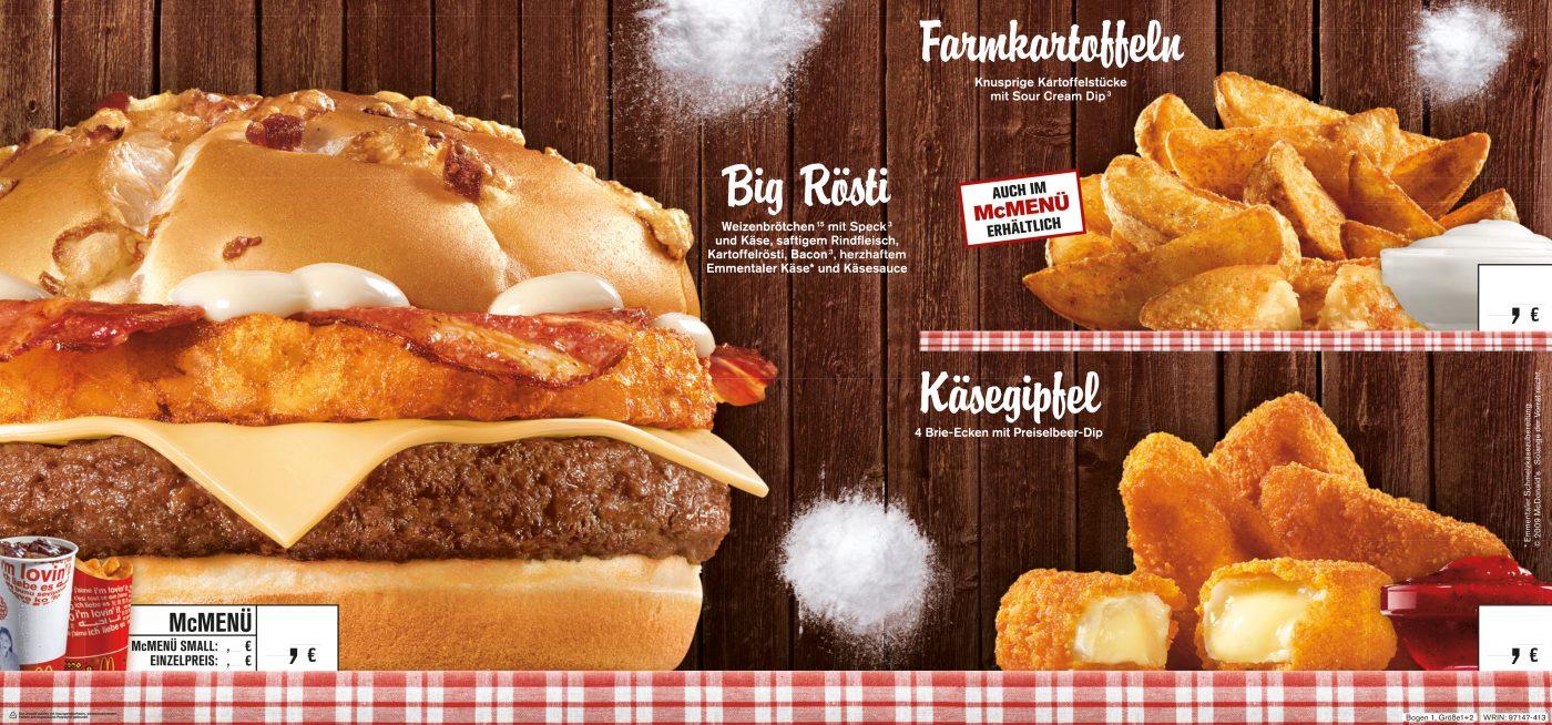 fast food BigRoesti Burger