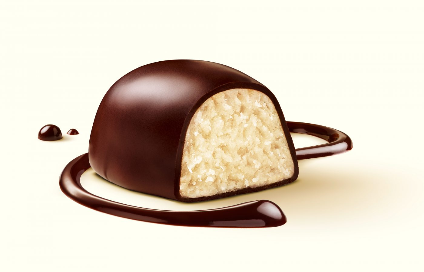 you see a confectionery chocolate with marzipan for the packaging photography