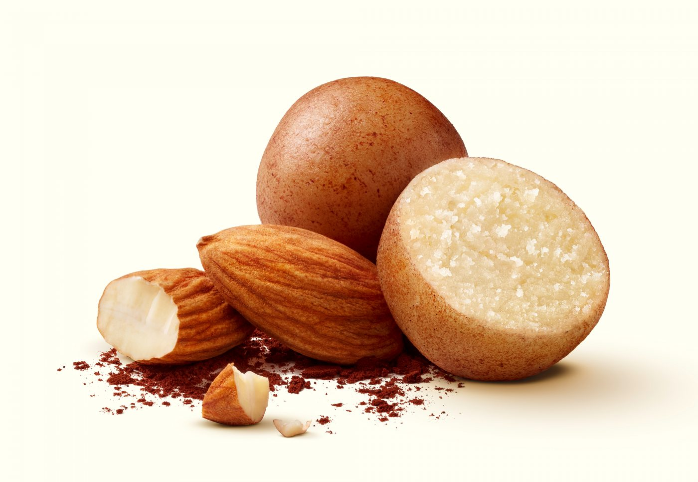 confectionery, packaging photography Marzipan with almond