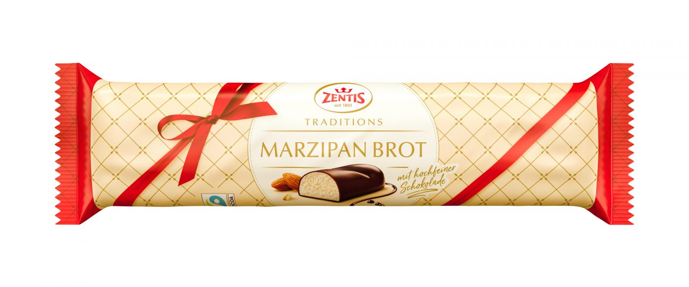 packaging photography of confectionery marzipan bread 500g for the zentis packaging.