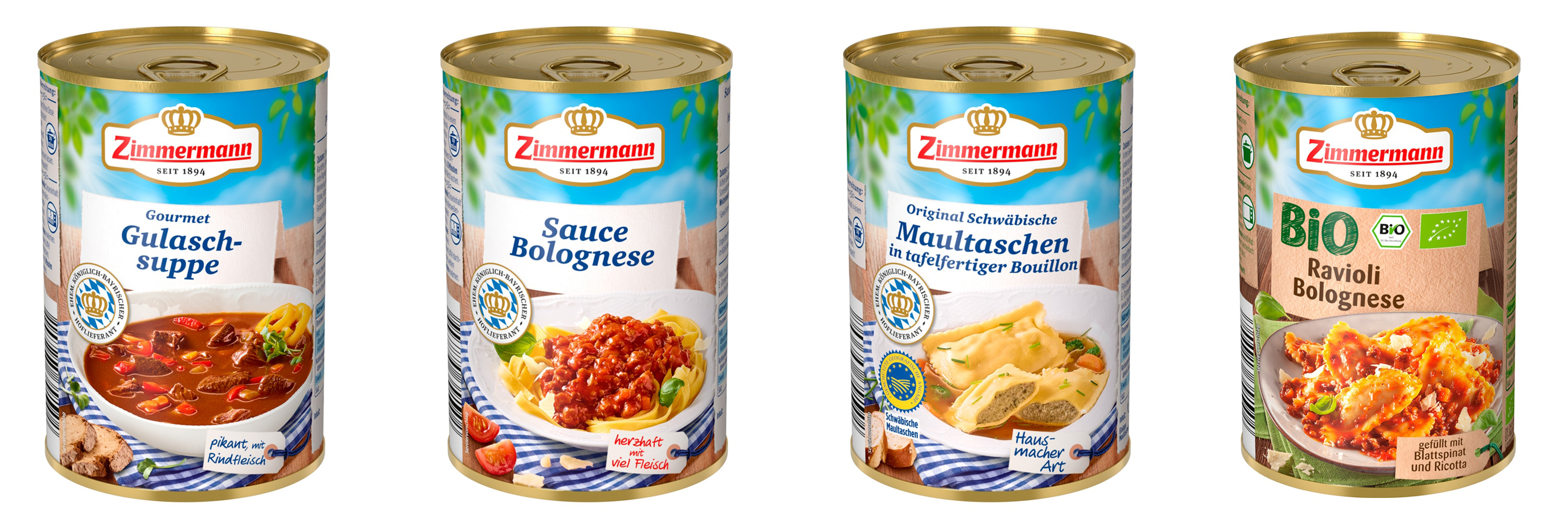 packaging of 4 canned food dishes