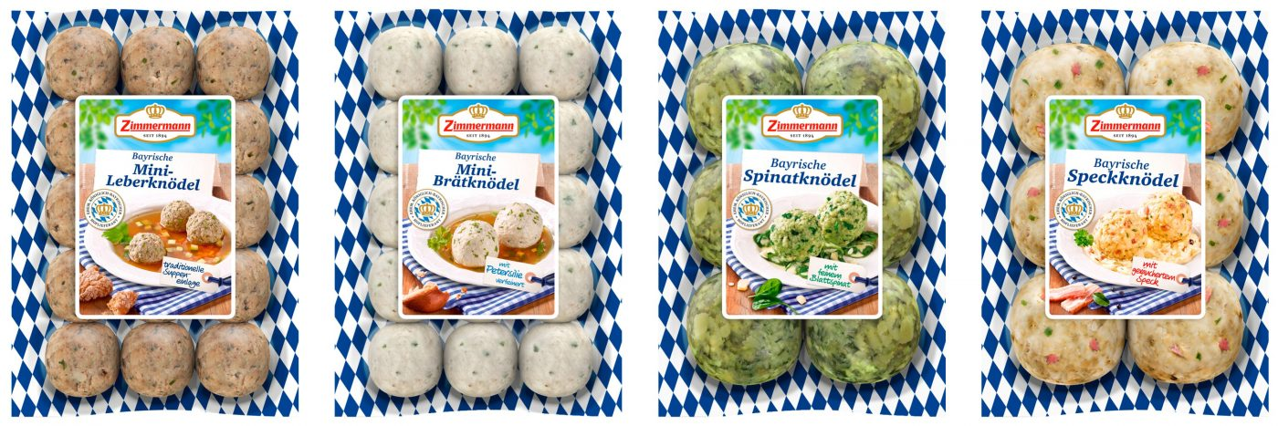 dumpling packaging 4 different packages of zimmermann dumplings